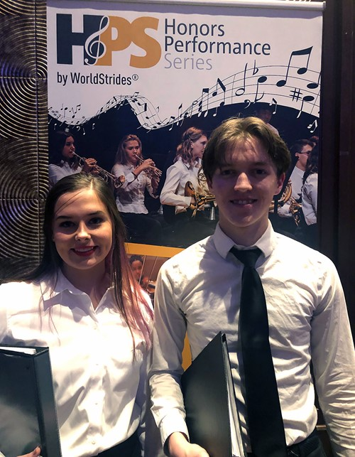 TCCHS students Britney White and Jared Giddens performed in the prestigious 2020 High School Honors Performance Series at Carnegie Hall in New York City.