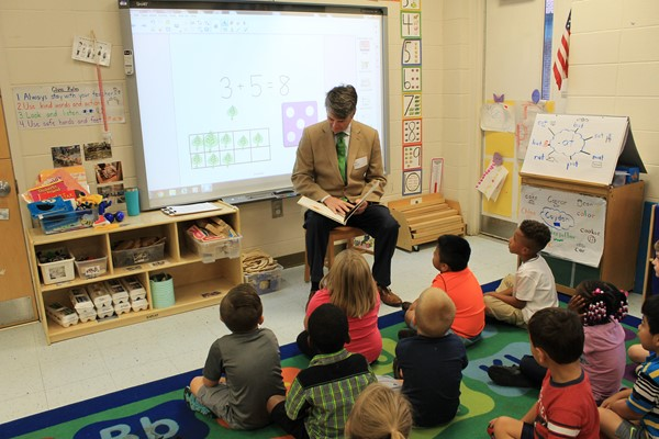 Reading to PK students