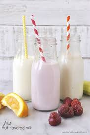 Fresh Fruit and Milk