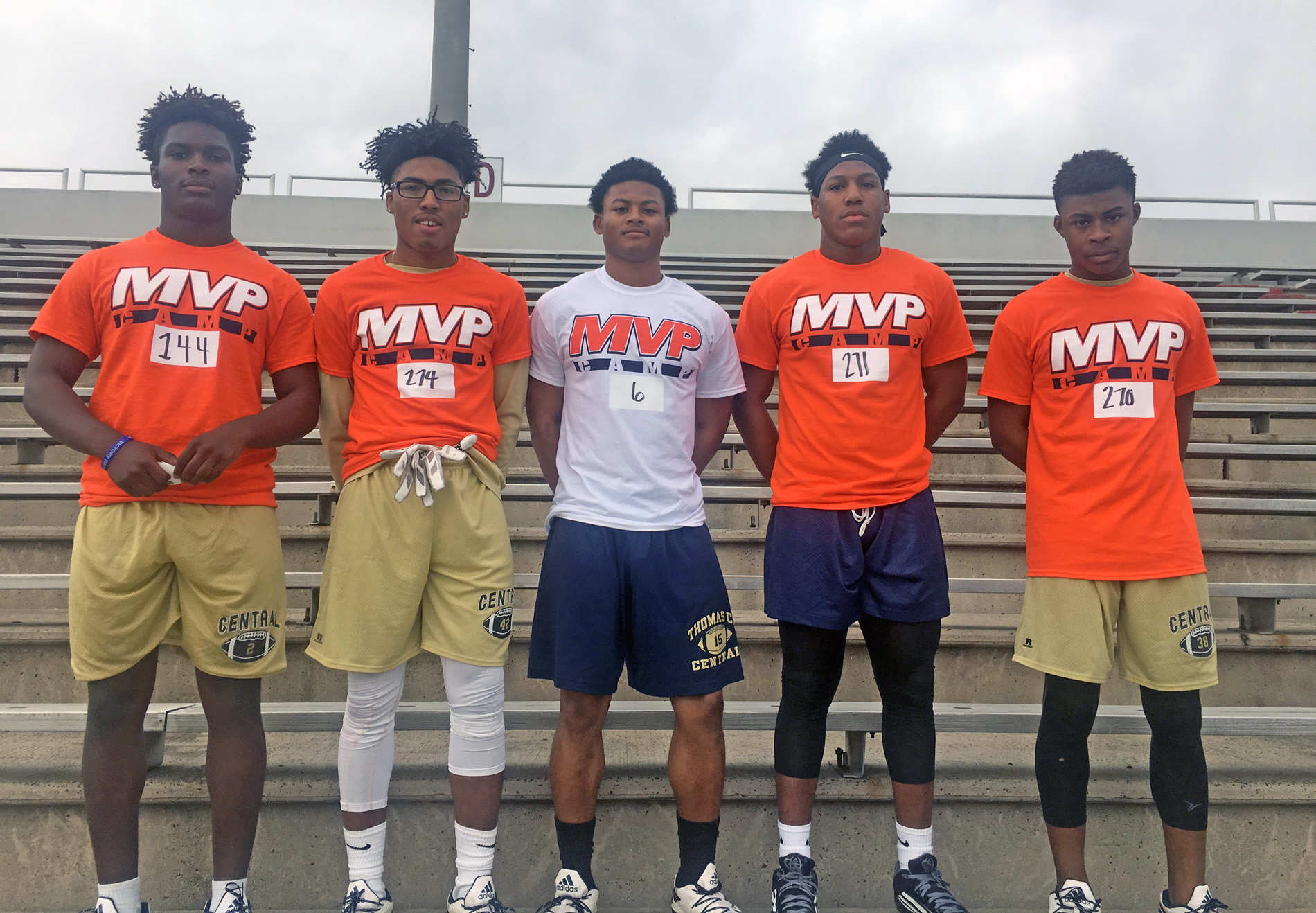 TCCHS athletes Darien Daniels, B.J. Smallwood, Tay Cooksey, Jaylen Dunbar, and A.J. Stephenson participated in a recent MVP camp in Valdosta.