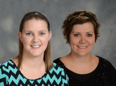 Stacie Dunn (left) and Melissa Artz will attend the National Sustainability Teacher's Academy in Arizona.