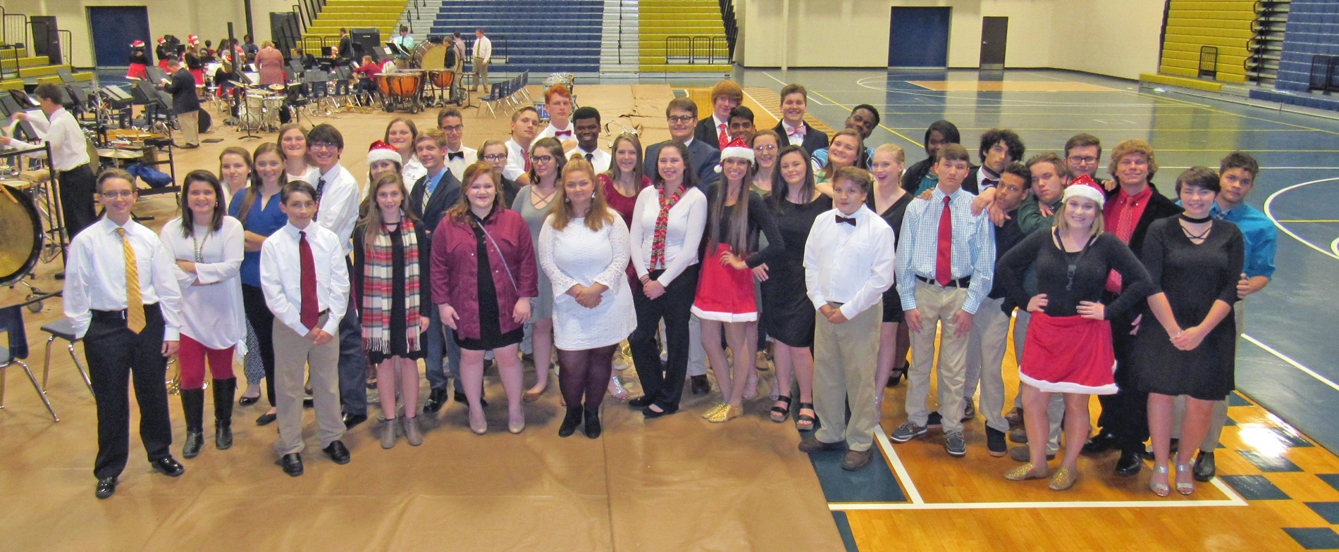 Thomas County Central High School has 47 youth musicians who earned seats on the GEMA District 2 Honor Band. Pictured are most of these honorees.