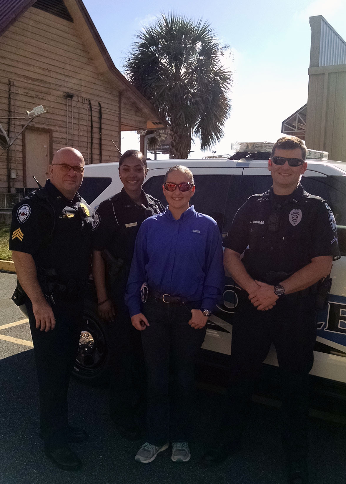Thomasville police allow a TCCHS student to job shadow.