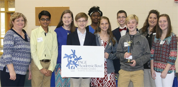 Academic Bowl Team: First Place Winners