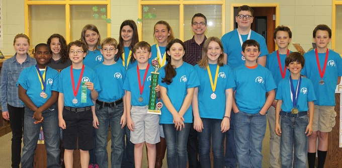 Science Olympiad: Third place in the region