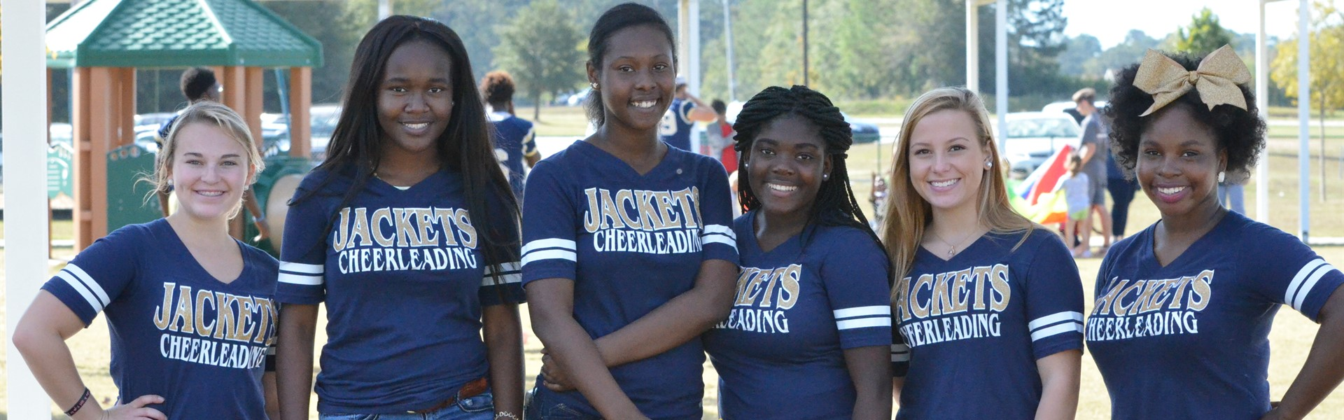 TCCHS cheerleaders at Healthy Habits Day at Hand in Hand.