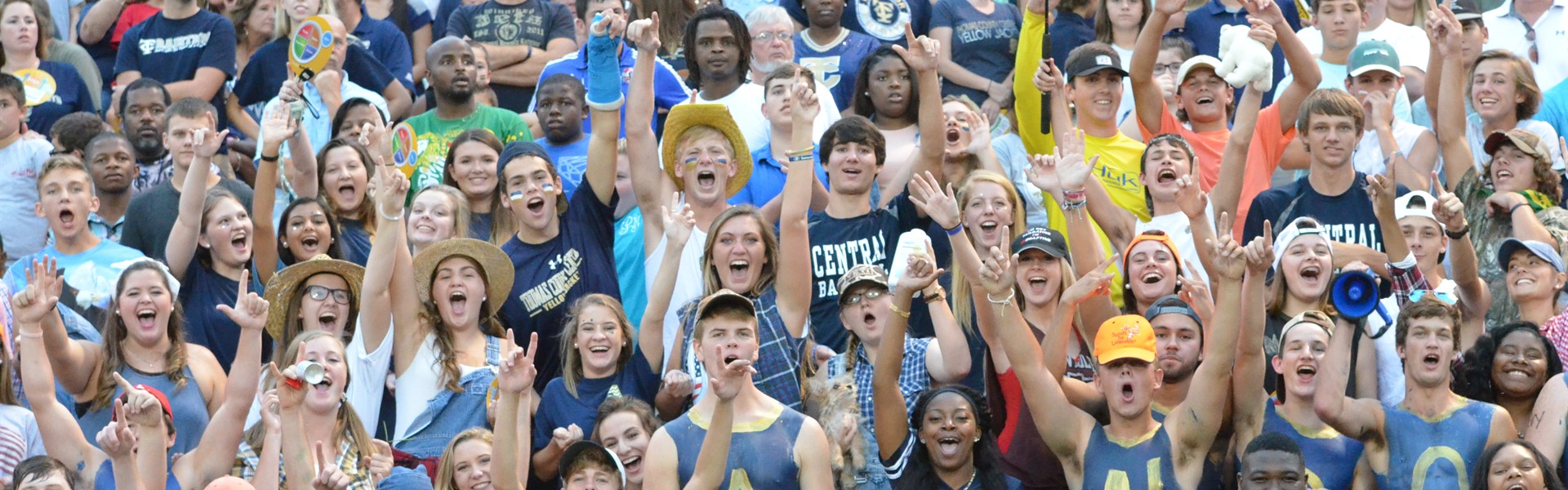 TCCHS students before the football game against Thomasville High School.