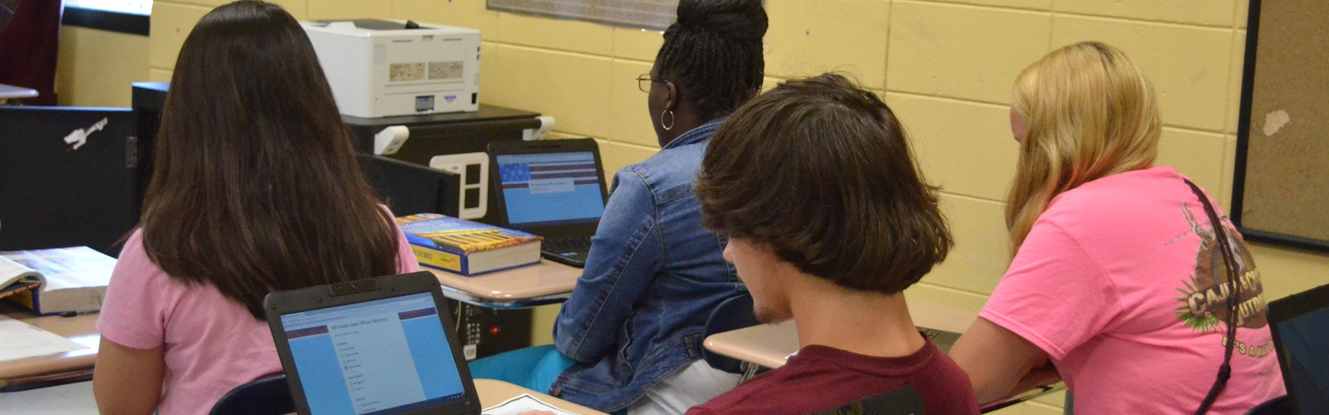 TCCHS students use technology in the classroom.