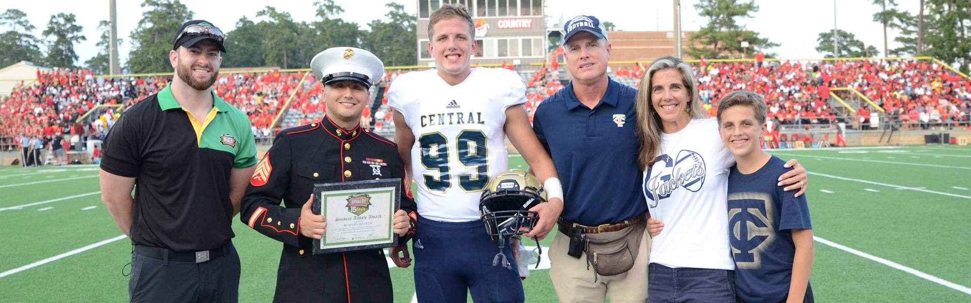 Ben Wilhelm received a scholarship from the Great American Rivalry series.