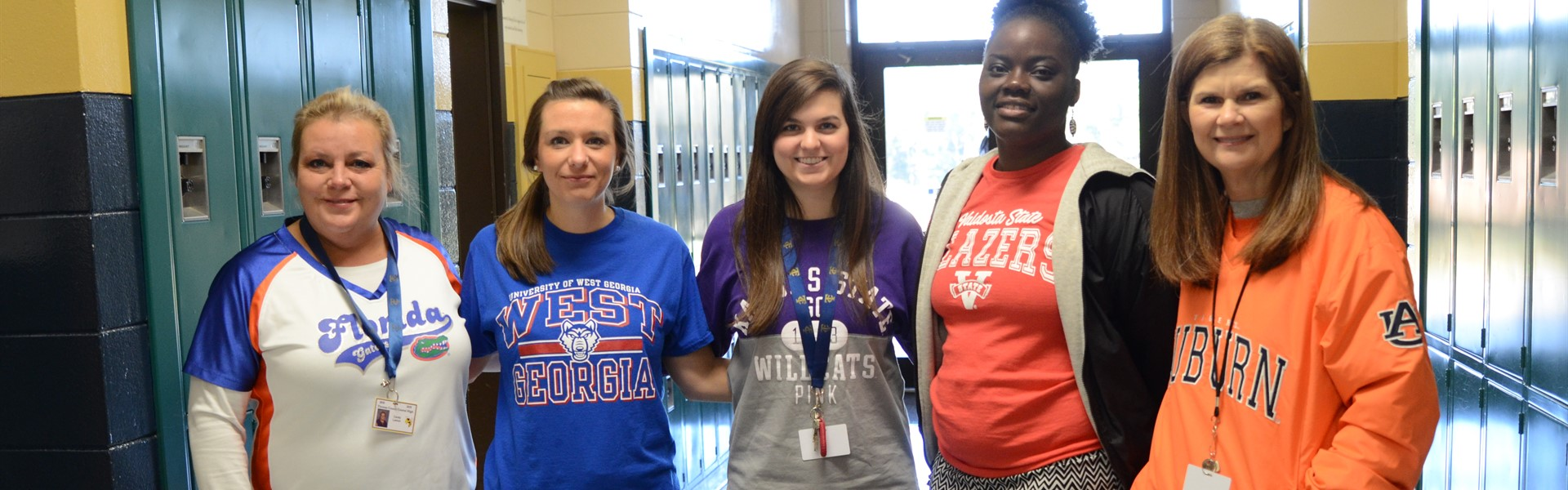 Teachers on College Awareness Day.
