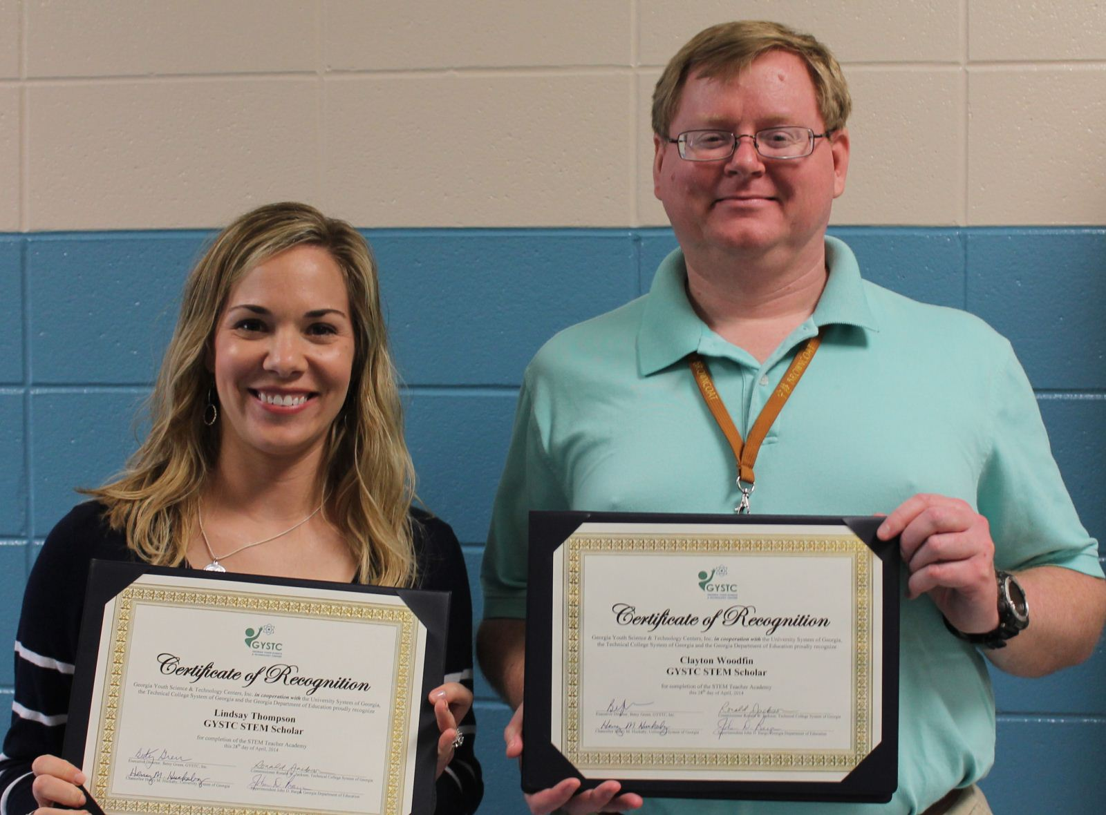 Mrs Thompson And Mr Woodfin Are Stem Certified Thomas County