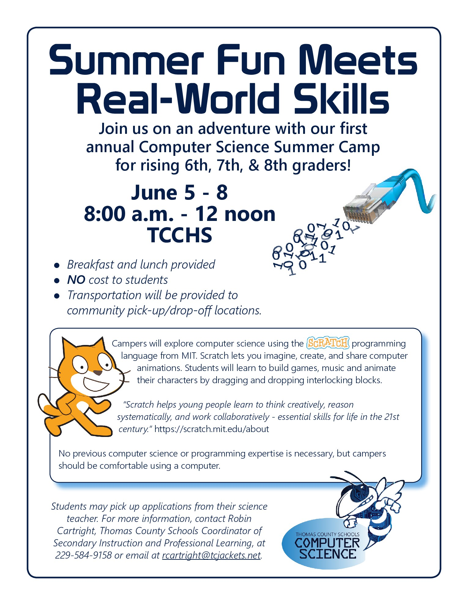 Computer Science Summer Camp Information