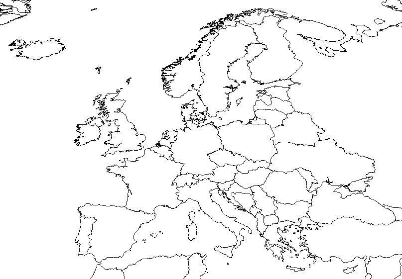 Perfect Outline Map Of Europe 0