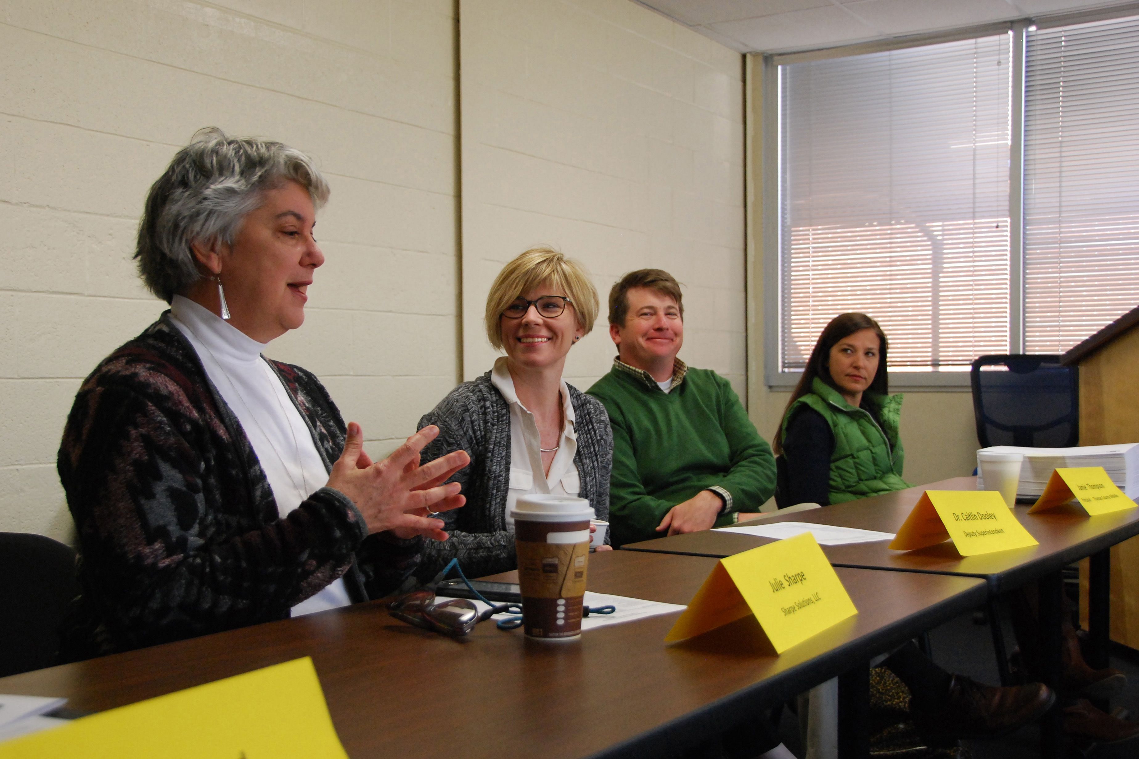 Dooley meets with school administrators.